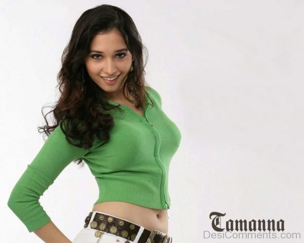 Tamanna In Green Top-DC12