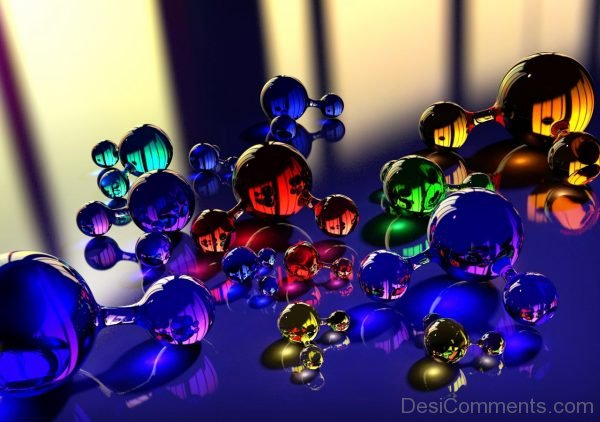 Wallpaper Balls, Molecule, Massager, Glass, Reflection, Color-DC044