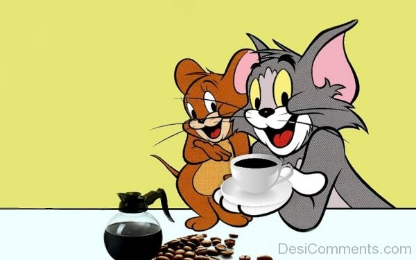 Tom And Jerry With Coffee-DC117