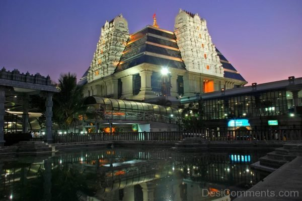 Amazing Night View Of ISKCON Temple-DC012