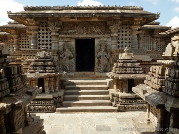 Front View Of Hoysaleswara Temple-DC120
