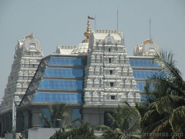 Front View Of ISKCON Temple-DC121