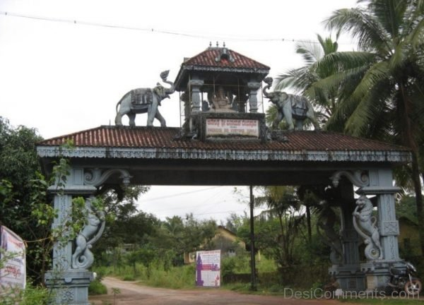 Main Gate Of Sri Vinayaka Temple,Anegudde-DC229