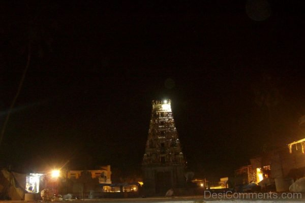 Night View Of Ghati Subramanya Temple-DC236