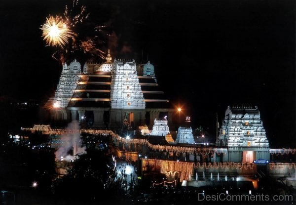 Night View Of ISKCON Temple-DC238