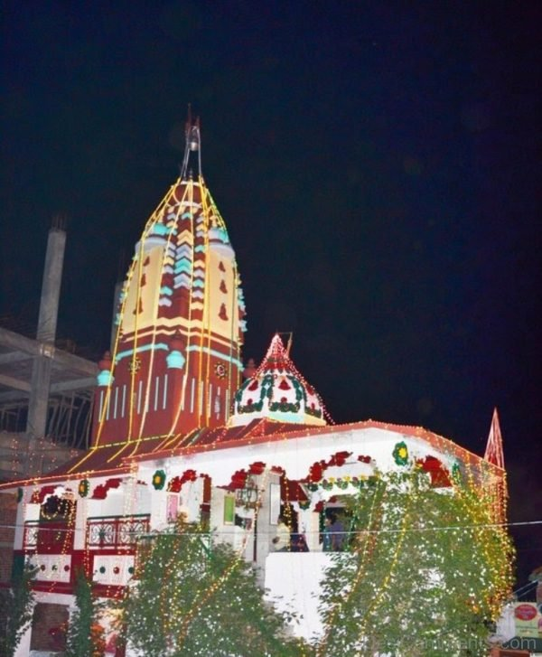 Night View Of Shoolini Devi Temple-DC240