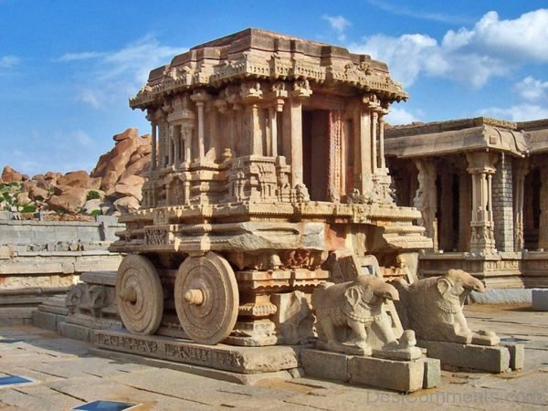 Stone Chariot At Vittala Temple,Hampi-DC332