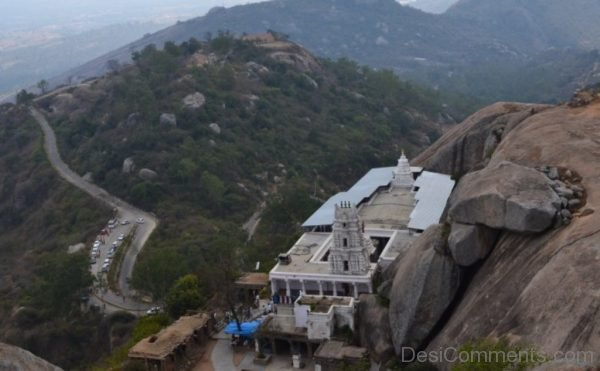 Top View Of Yoga Narasimha Temple-DC336