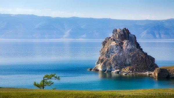 Shaman Rock Lake Baikal Wallpaper