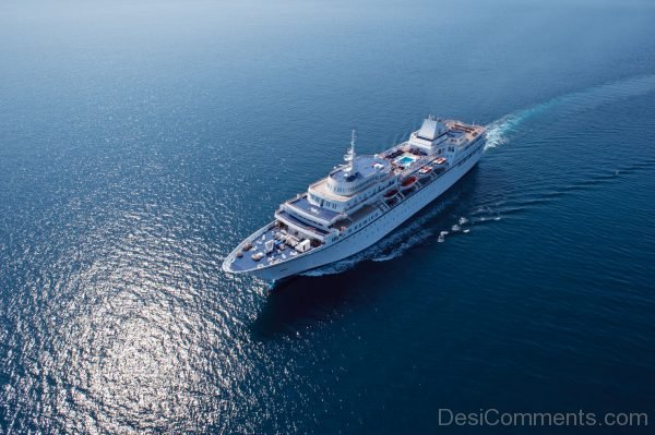 Upper View Of Aegean Odyssey Cruise Ship