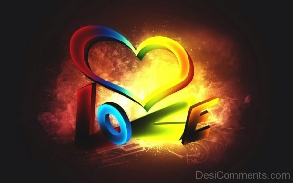 3D Photo Of Love