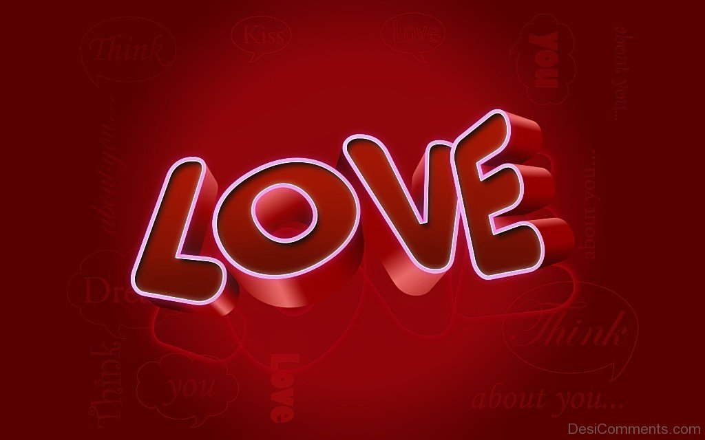 Love 3D Wallpaper - Desicomments.com