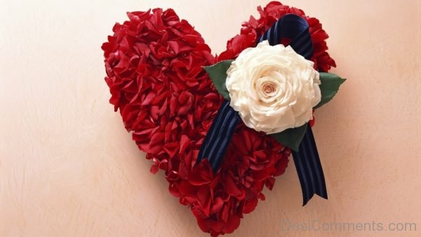 Red Flowers Heart
