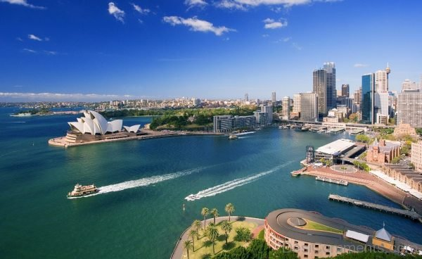 Downtown Sydney and Waterfront Walllpaper