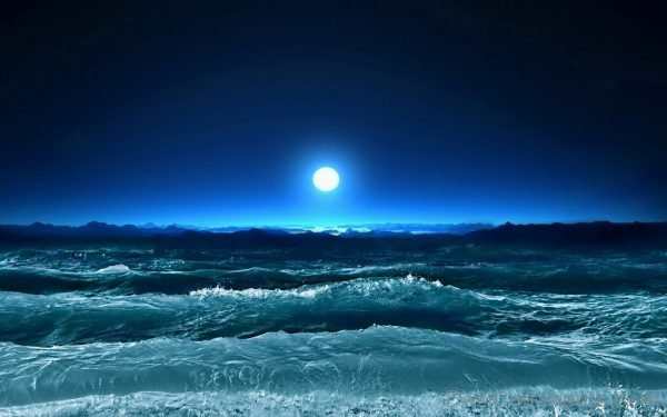 Wallpaper Of Night View Of Sea