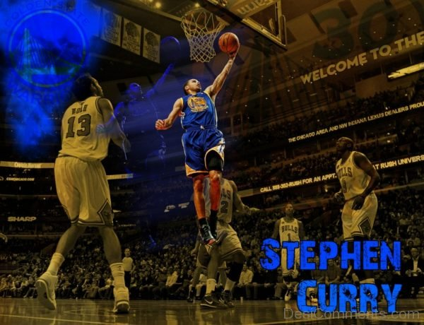 Wallpaper Of Stephen Curry Playing Basketball
