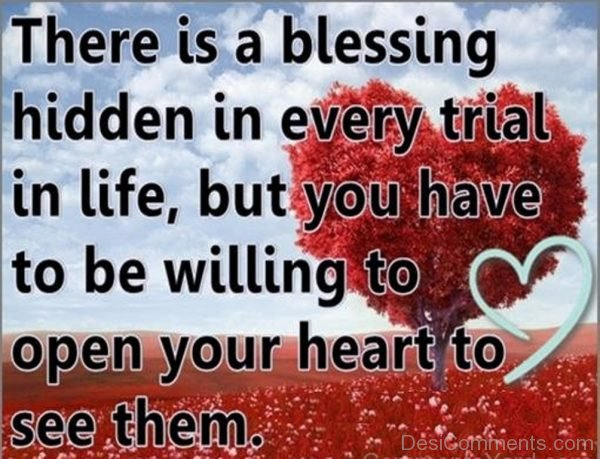 Blessing Is Hidden In Every Trial In Life-DC09