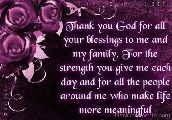 Thank You God For All Your Blessings-DC40