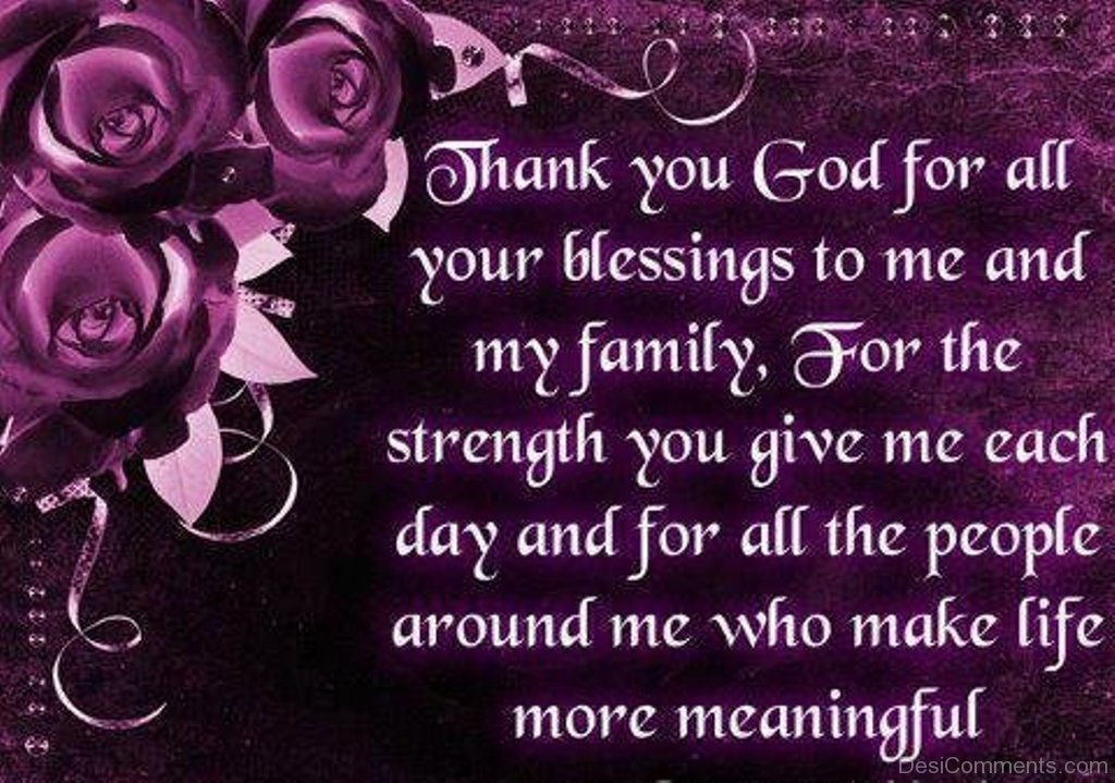 Thank You God For All Your Blessings Desicommentscom
