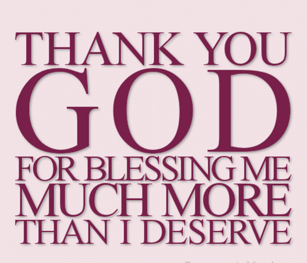 Thank You God For Blessing Me-DC60