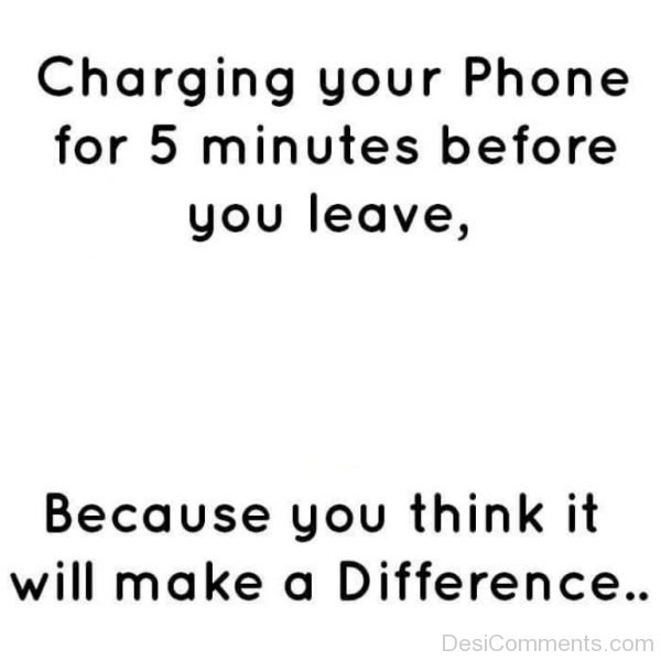 Charging Your Phone For 5 Minutes-DC037