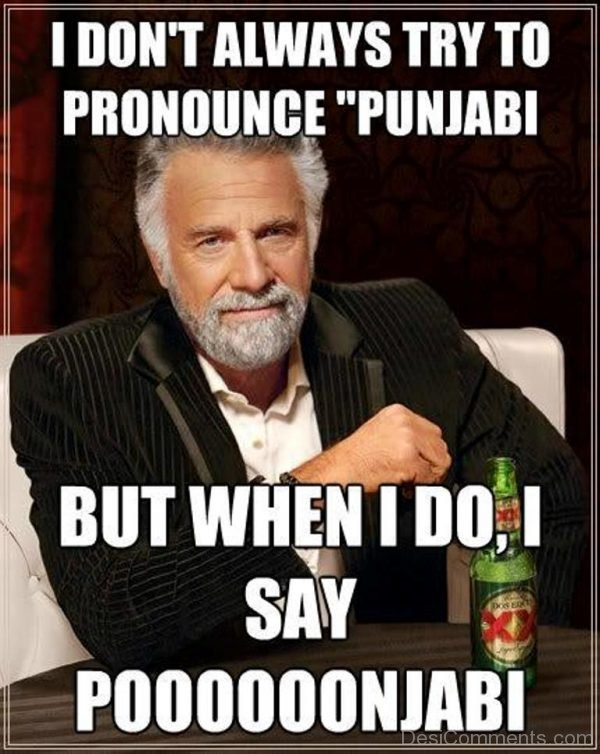I Don't Always Try To Pronounce Punjabi-DC033