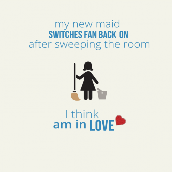 Picture: My New Maid Switches Fan Back