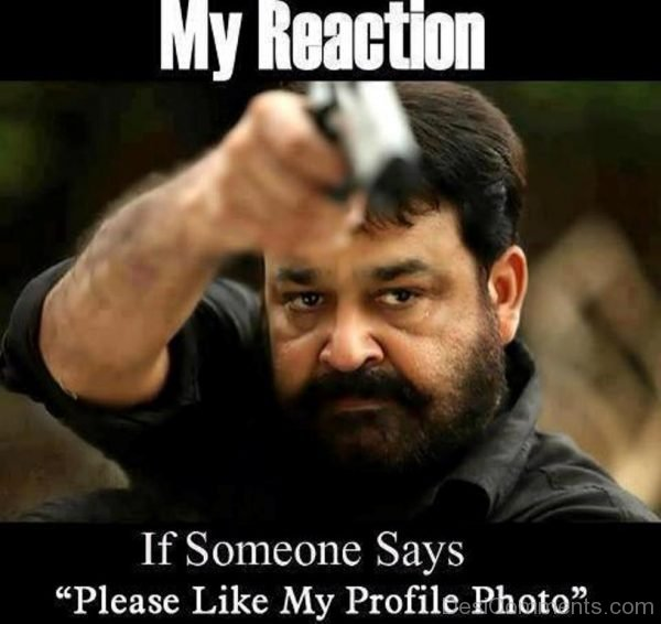 Picture: My Reaction If Someone Says