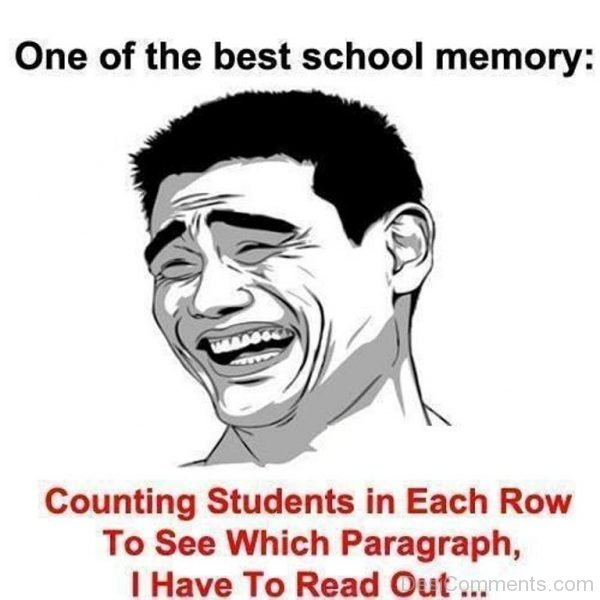 Picture: One Of The Best School Memory