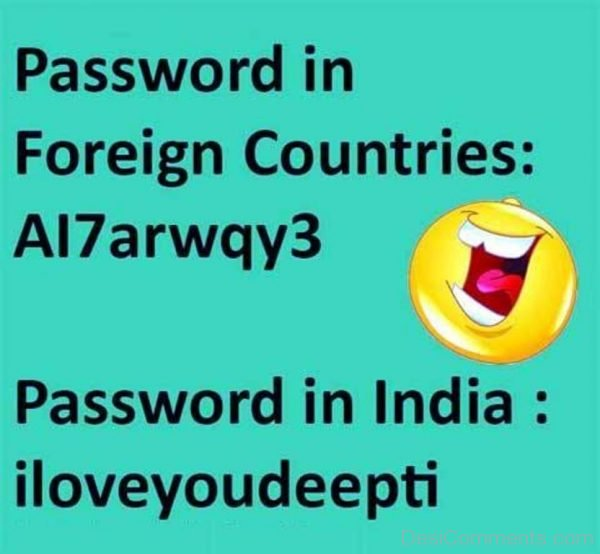 Picture: Password In Foreign Countries Vs India