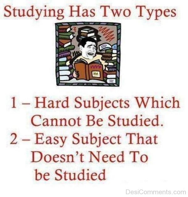 Studying Has Two Types-DC197