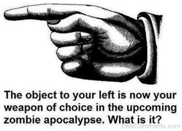 Picture: The Object To Your Left Is Now