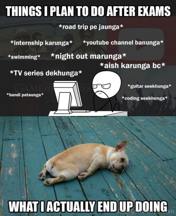 Picture: Things I Plan To Do After Exams