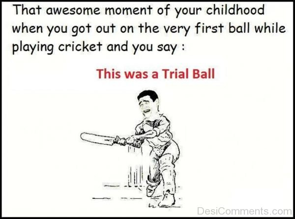 Picture: This Was A Trial Ball