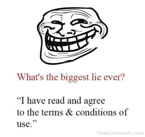 Picture: What's The Biggest Lie Ever