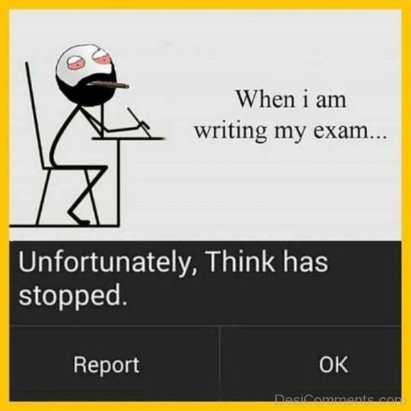 Picture: When I Am Writing My Exam