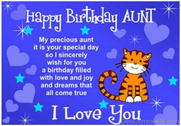 Picture: Birthday Wishes for Aunt