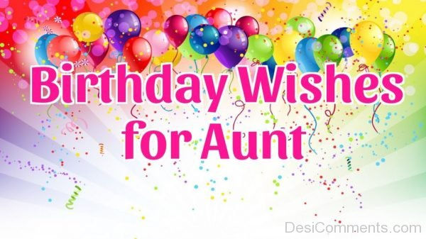 Birthday Wishes for Aunt Image