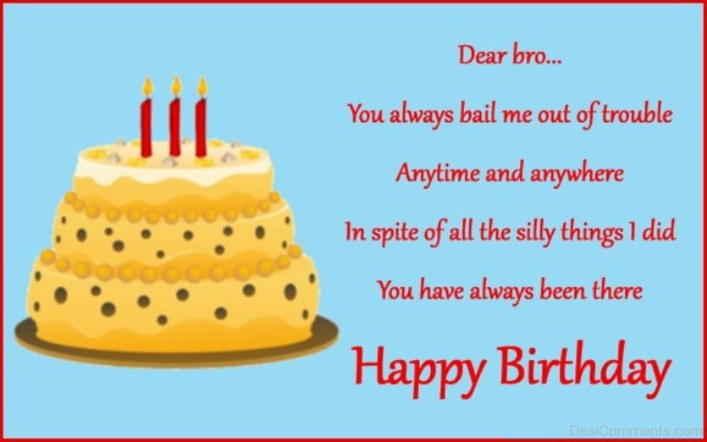 Birthday Wishes Quotes For Brother ~ Birthday wishes for brother pictures images graphics facebook whatsapp page
