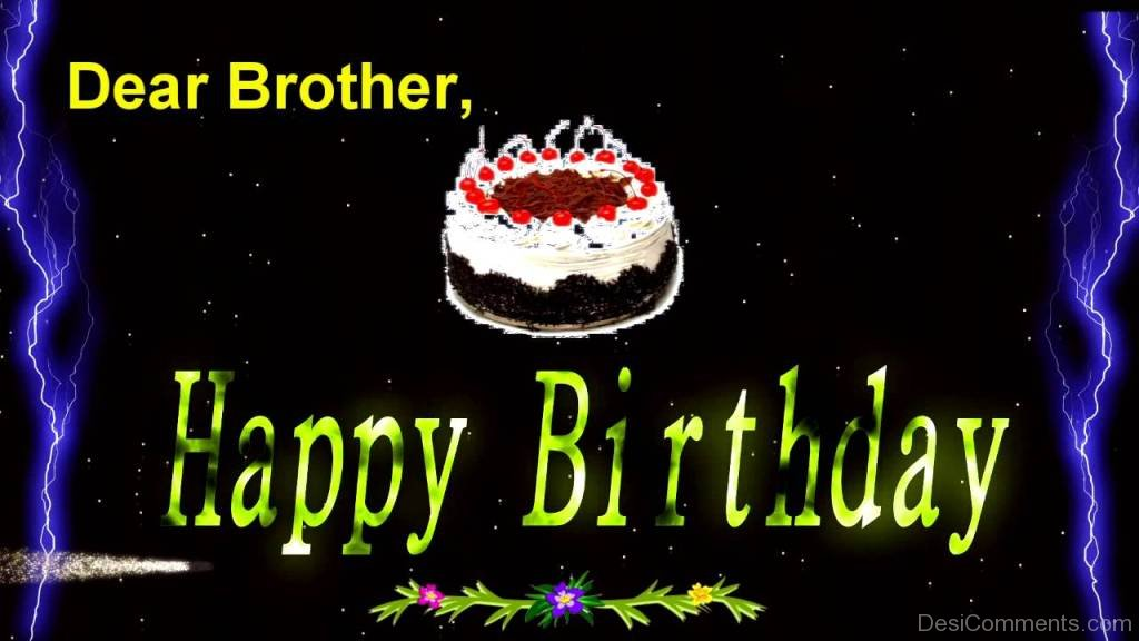 Happy Birthday Message Dear ~ Birthday wishes for brother pictures images graphics
