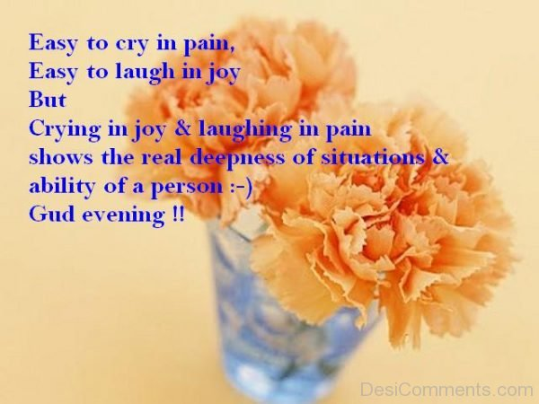 Easy Too Cry In Pain