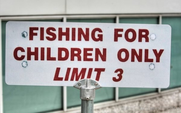Fishing For Children Only Limit 3