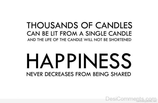 Happiness Never Decreases From Being Shared