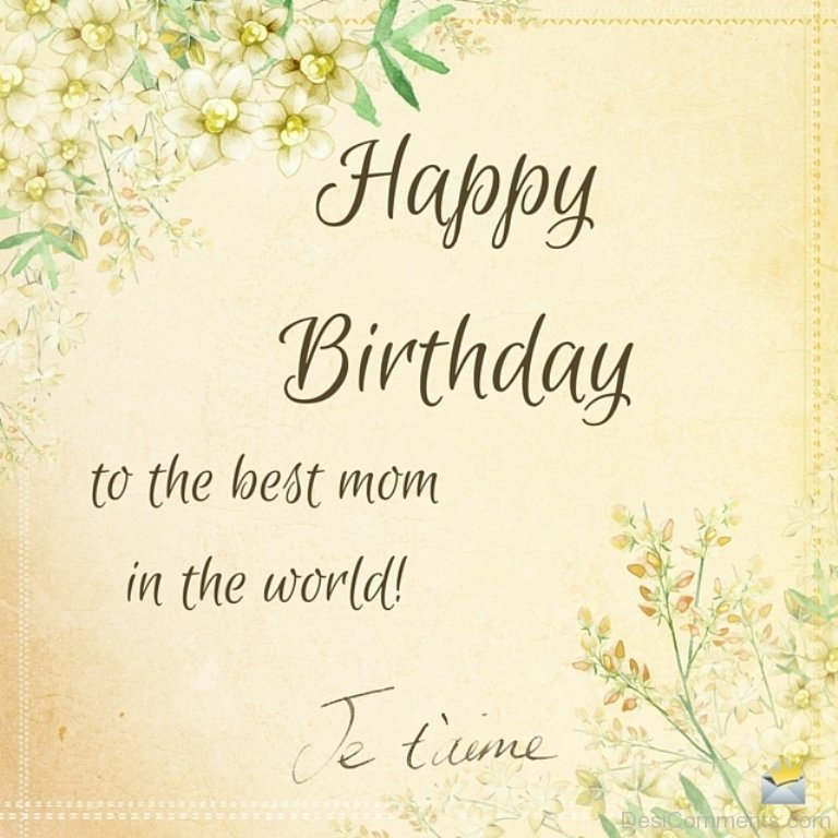 Birthday Wishes for Mother Pictures Images Graphics for Facebook – Islamic Birthday Greetings