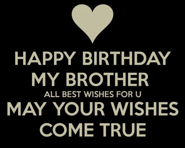 Happy Birthday My Brother All Best Wishes For You