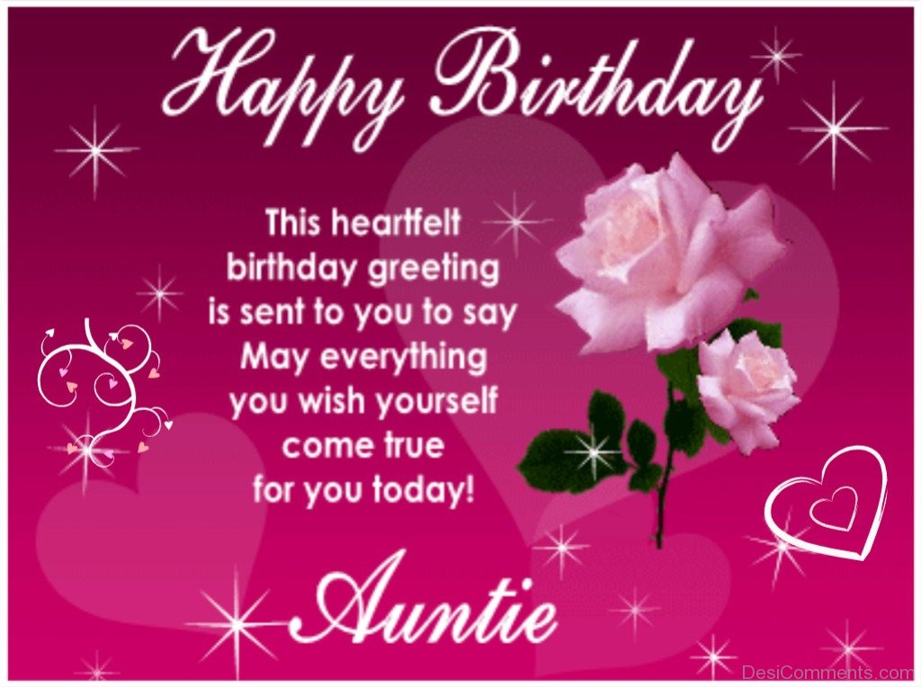 Birthday Wishes For Aunt Pictures, Images, Graphics For