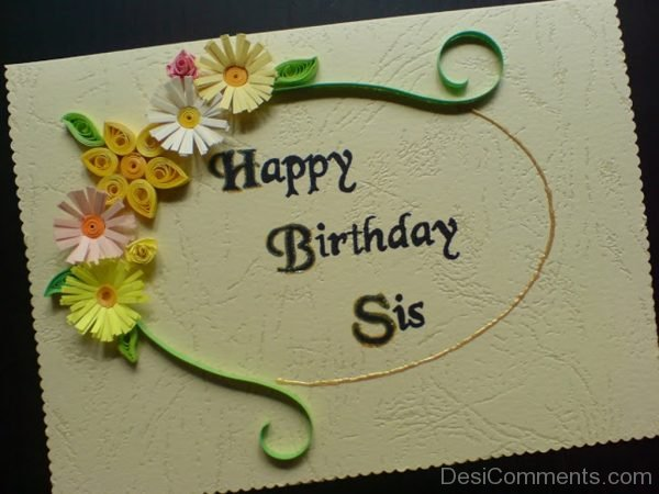 Happy Birthday Sister Image