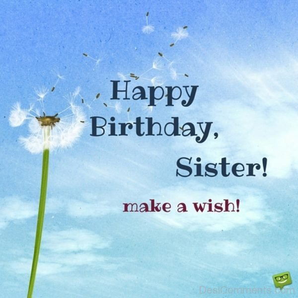 Happy Birthday Sister Make A Wish