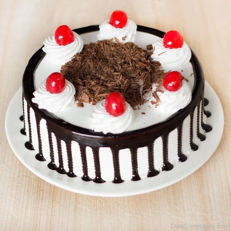 Happy Birthday To You With Black Forest Cake Desicomments