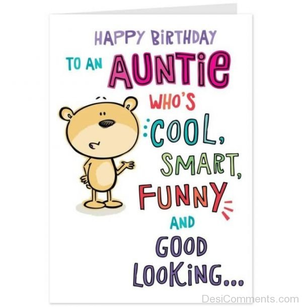 Happy Birthday To An Auntie